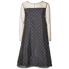 Geoffrey Beene Dotted Tulle Cocktail Dress