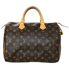 Louis Vuitton LV Monogram Speedy 30 Bag w/ Box and DB
