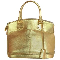 Louis Vuitton Gold Suhali Leather Lockit PM Bag W/ Lock/Keys/Clochette