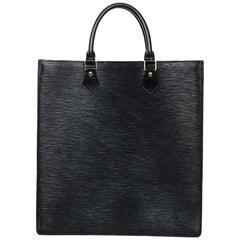 Louis Vuitton Unisex Noir Black Epi Leather Sac Plat GM Tote Bag