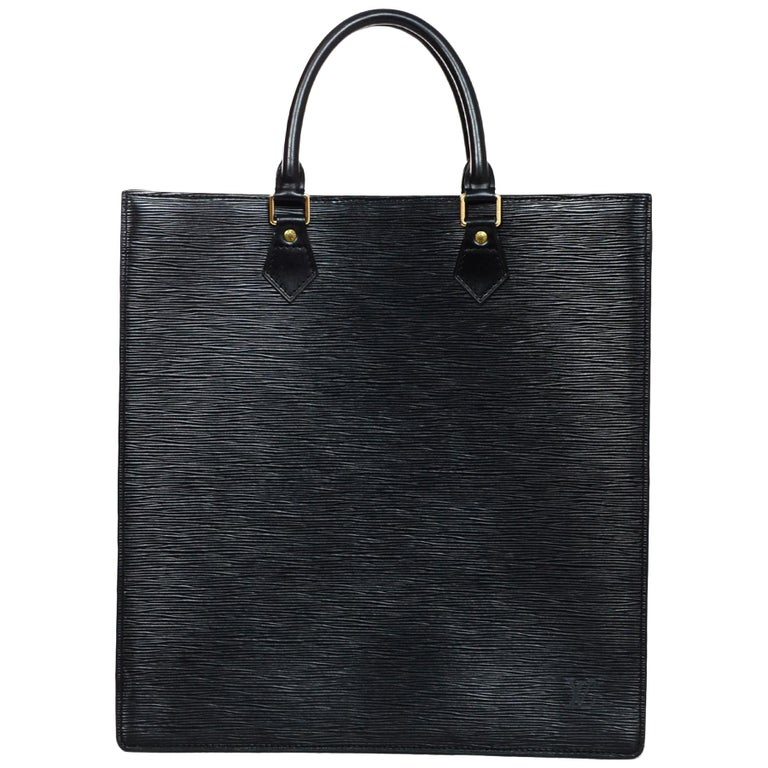 5f834b71b254 Louis Vuitton Unisex Noir Black Epi Leather Sac Plat GM Tote Bag For Sale
