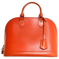 Louis Vuitton Orange Epi Leather Alma PM Bag w. Dust Bag rt. $2,160