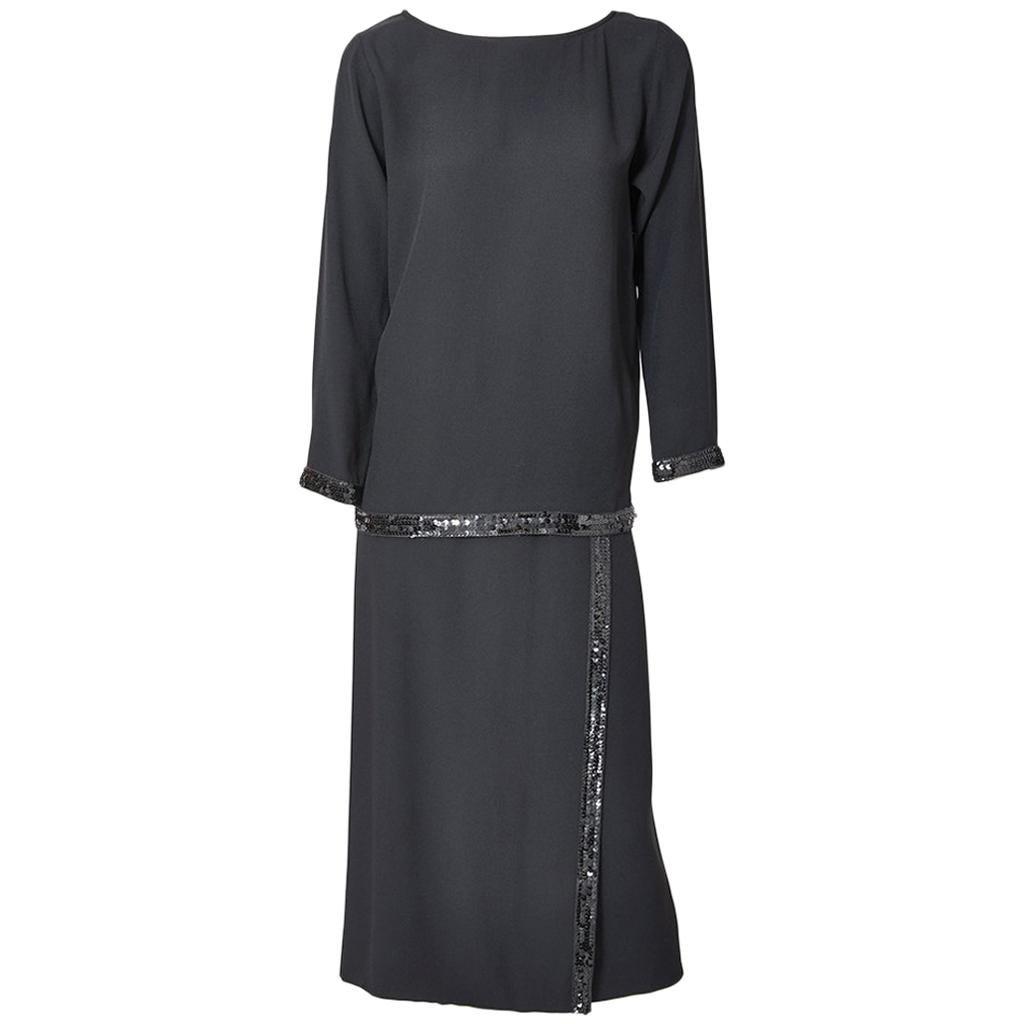 Yves Saint Laurent Tunic and Wrap Skirt Evening Ensemble