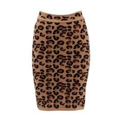 Alaia Leopard Print Knit Pencil Skirt, Fall-Winter 1991-1992