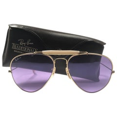 New Ray Ban Purple Chromax 62Mm Outdoorsman Collectors Item USA Sunglasses