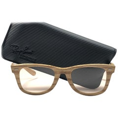 New Ray Ban The Wayfarer Woodies Driftwood Edition Collectors USA 80 Sunglasses