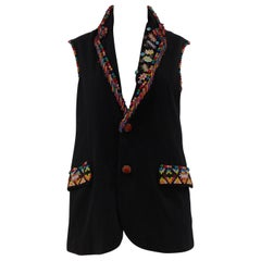 Soab Sun of a Beach Capri handcraft Wool Sleeveless Blazer