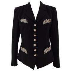 Rena Lange Black Wool Blazer Nwot