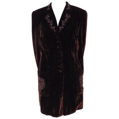 Rena Lange Brown Velvet Wool Jacket Blazer NWOT