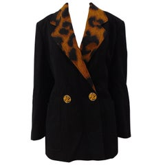 Genny by Gianni Versace Black Wool Blazer NWOT