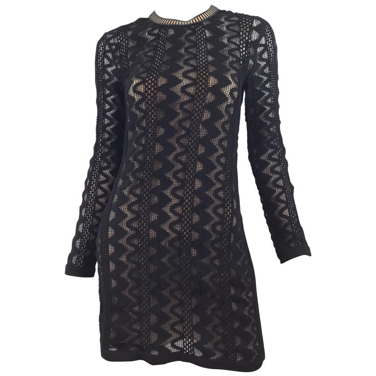 Louis Vuitton 2015 Spring Knitted Dress with Leather Trim For Sale