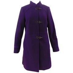 Fay Purple Wool Coat
