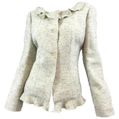 Chanel Knit Jacket with Ruffled Collar