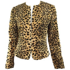 Valentino Leopard Print Jacket with Sequins