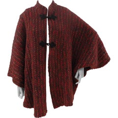 Wool multicoloured handmade cape