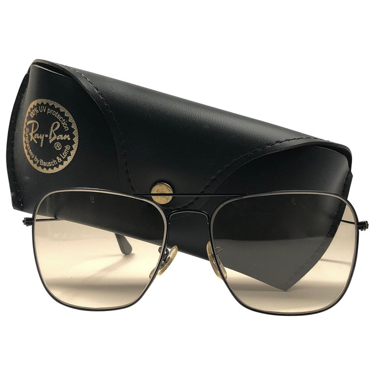 c2e8b3605ea Ray Ban Vintage Caravan Black Brown Changeable Lenses B L Sunglasses