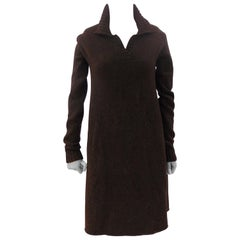Balenciaga Brown Wool Dress NWOT
