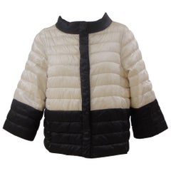 Max Mara Black & White Quilted Jacket