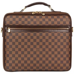 2008 Louis Vuitton Brown Damier Ebene Coated Canvas Sabana Computer Case
