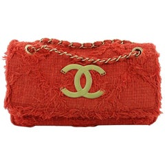 Chanel Nature Flap Bag Quilted Tweed Medium