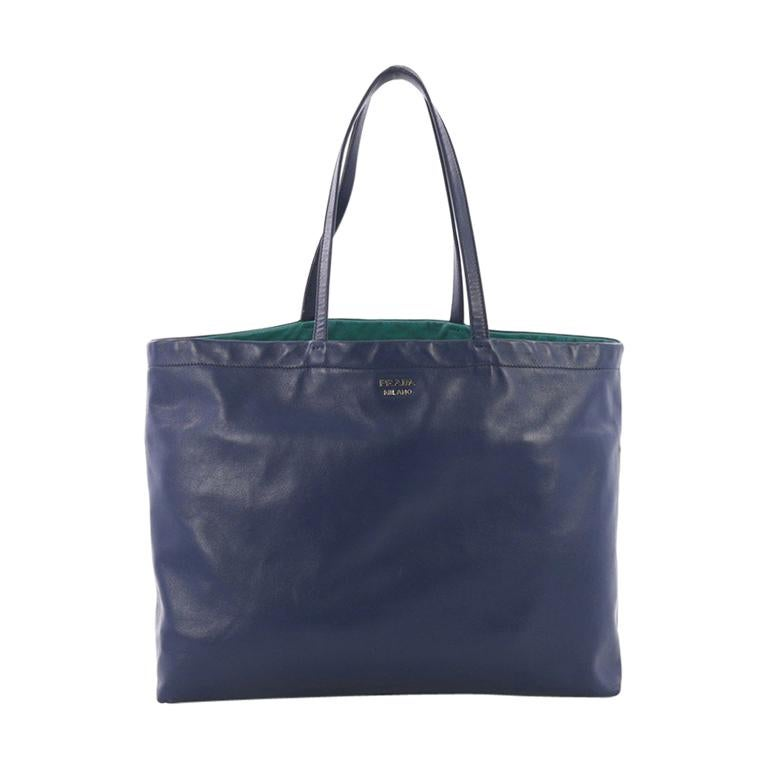 Prada Reversible Tote Soft Calfskin Large For Sale at 1stdibs 6eb4eb2518