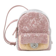 Chanel Waterfall Backpack Sequins with Leather Mini