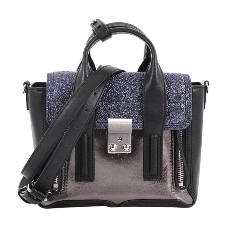 3 1 Phillip Lim Pashli Satchel Stingray And Leather Mini For