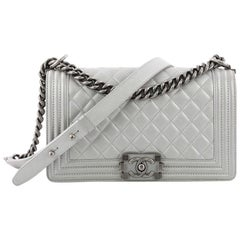 Chanel Boy Flap Bag Quilted Calfskin Old Medium