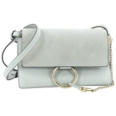 85096d3b1abf Rebag. Chloe Faye Shoulder Bag Leather and Suede Small