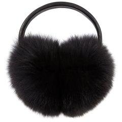 Verheyen London Ear Muffs in Black Fox Fur