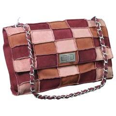 Chanel 2.55 Patchwork Suede Shoulder Bag.