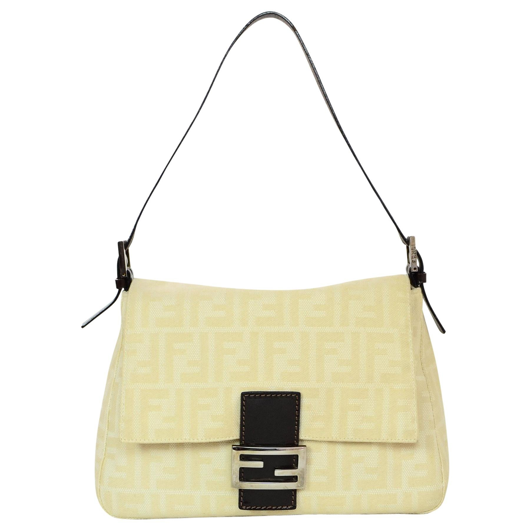 31b15431ee Fendi Beige Brown Monogram Mama Zucca Baguette Bag For Sale at 1stdibs