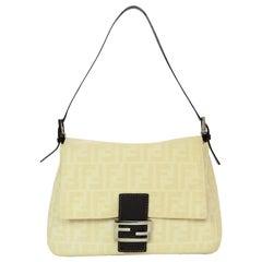Fendi Beige/Brown Monogram Mama Zucca Baguette Bag