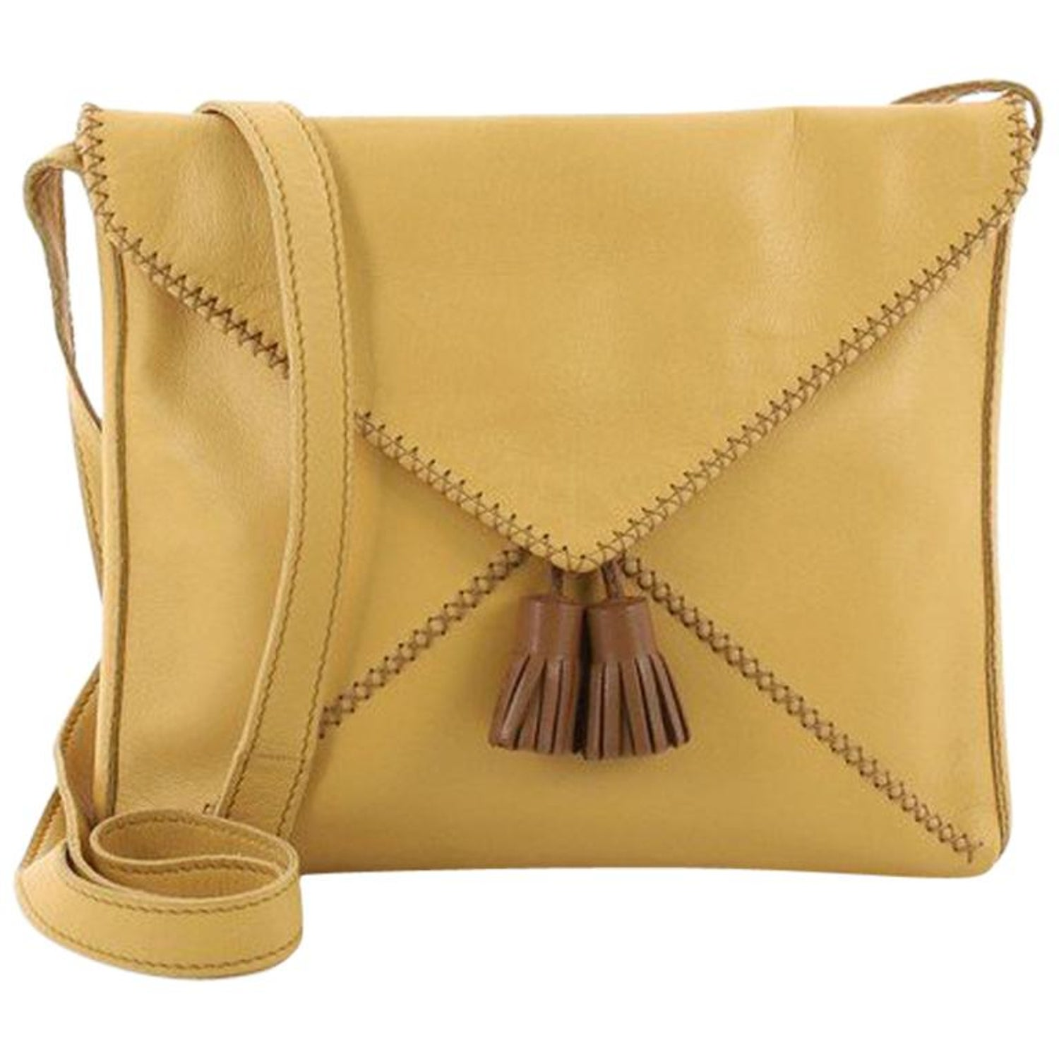 29bf9138d992 Hermes Tassel Envelope Crossbody Bag Leather Small at 1stdibs