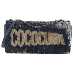 Chanel Coco Cuba Chain Clutch Sequins