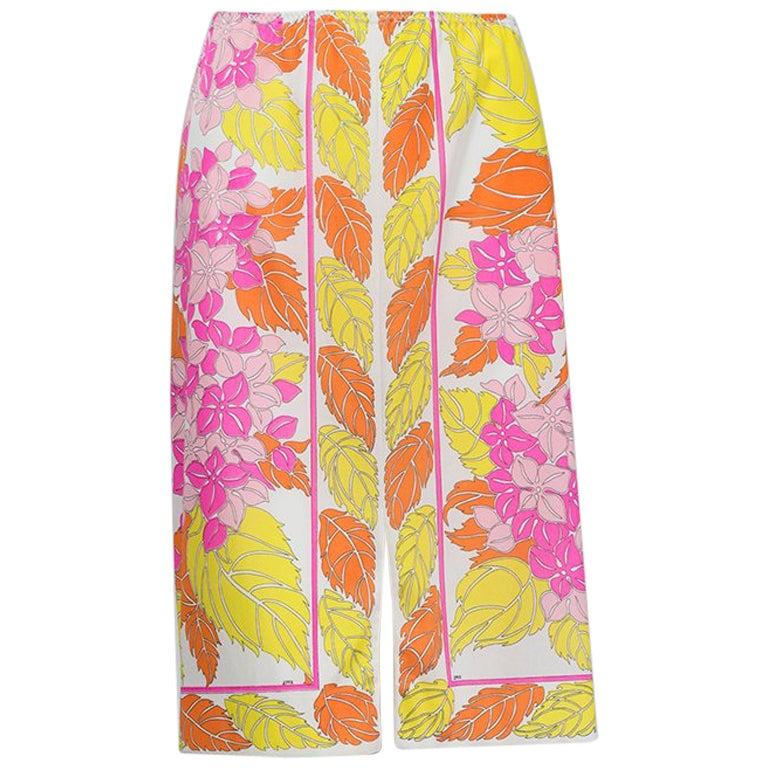 Emilio Pucci Formfit Rogers Floral Print Skirt Slip, 1960s