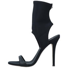Giuseppe Zanotti NEW Black Sock Evening Boots Booties Heels in Box