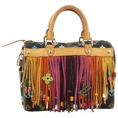 Louis Vuitton Speedy Handbag Limited Edition Fringe Monogram Multicolor 2