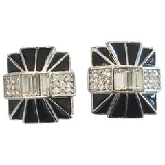 Art Deco Revival Clip earrings by Givenchy