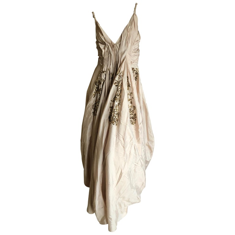 Dior by John Galliano S/S 2007 Voluminous Balloon Evening Dress w Sequin Flowers For Sale