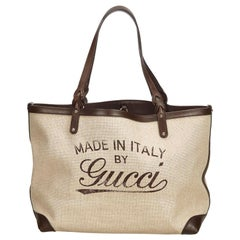 Gucci Brown Craft Tote Bag