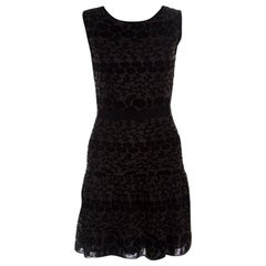 Giambattista Valli Black Floral Jacquard Knit Sleeveless Dress S