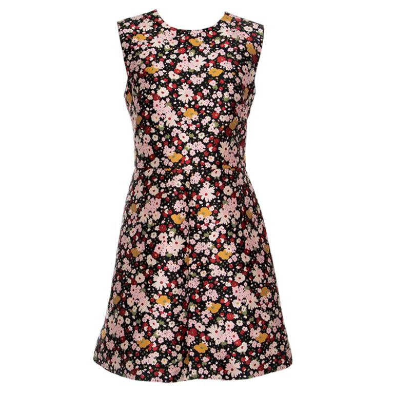 88b1d0eb932 Red Valentino Chelsea Microflower Jacquard Sleeveless Dress L For Sale at  1stdibs