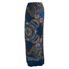 Etro Multicolor Paisley Printed Silk Maxi Skirt M