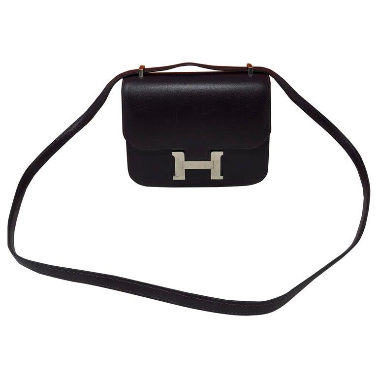 49c669defc886 Hermes Mini Constance 18 Purple Tasche im Angebot bei 1stdibs