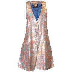 Vintage Biba Mini Dress /Long Waistcoat