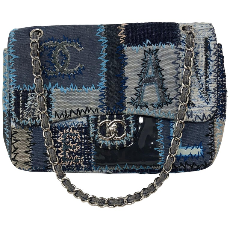 Chanel Denim Patchwork Bag At 1stdibs