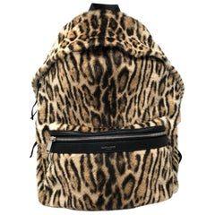 YSL Leopard Backpack