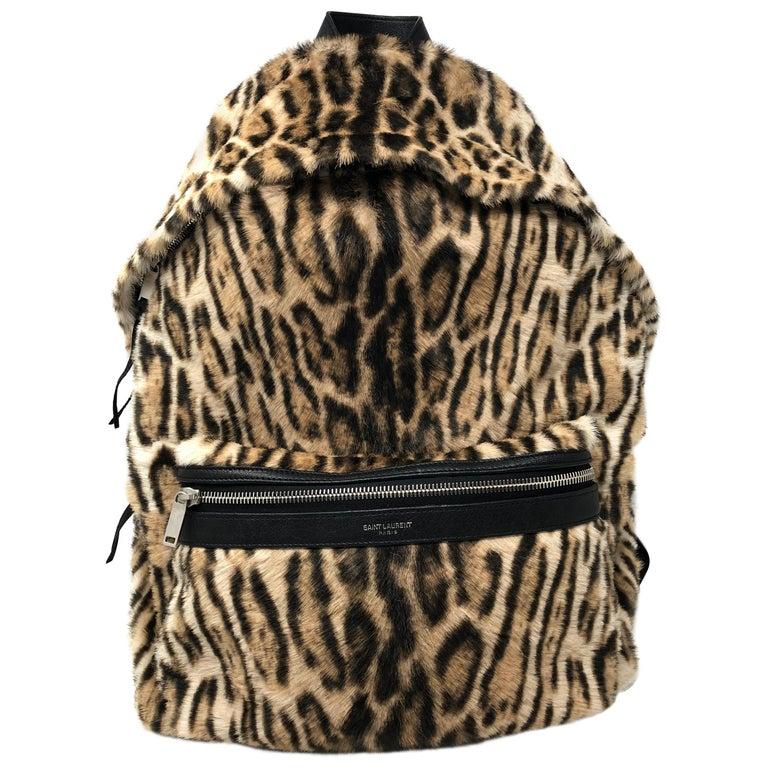b9359845bcc YSL Leopard Backpack For Sale at 1stdibs