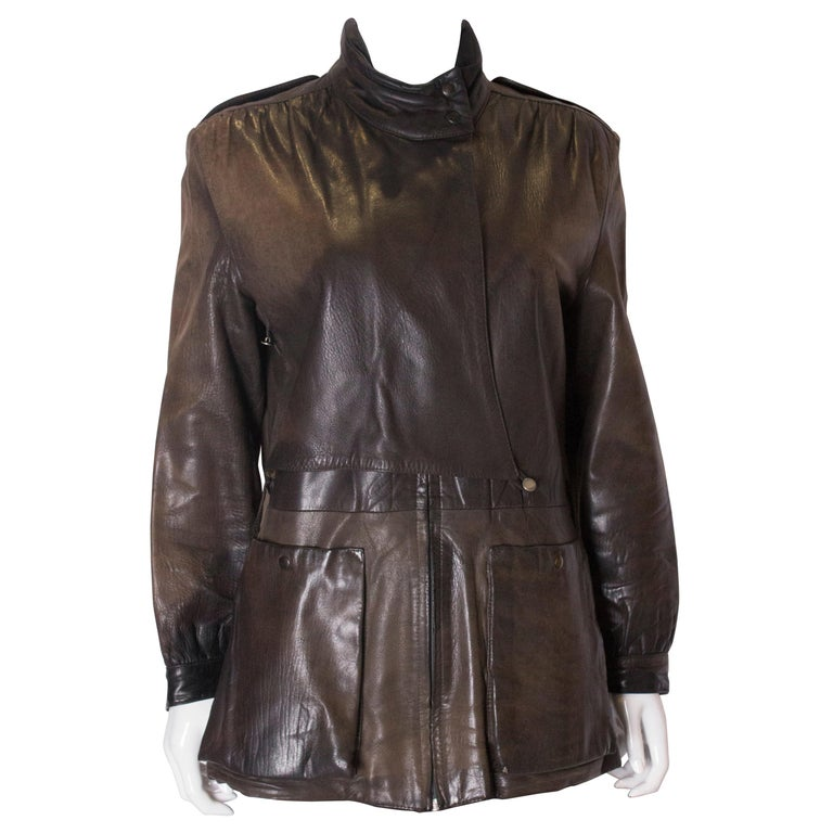 Vintage Leather Jacket >> Vintage Leather Jacket With Great Detail